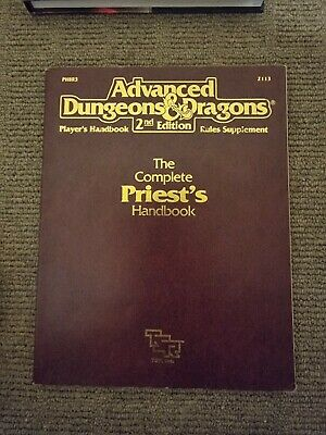 AU20 • Buy Advanced Dungeons And Dragons 2nd Edition - The Complete Priests Handbook