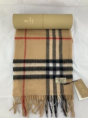 £187 • Buy Brand New Burberry Classic Check Cashmere Scarf 100% Cashmere RRP: 370