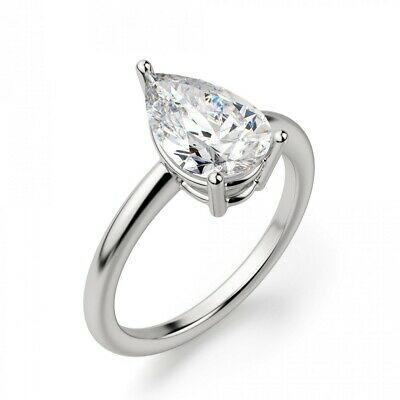 AU4.34 • Buy Amazing Off White Diamond Solitaire Ring. AAA Certified 1.05 Ct, Great Shine !