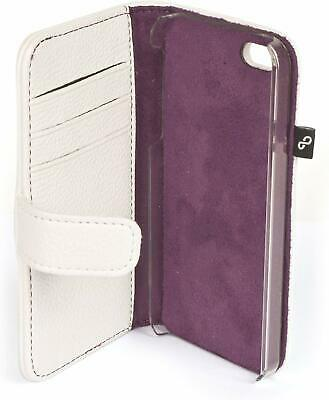 £2 • Buy IPhone 5 Grainy Faux Leather Folio Cover - White & Purple * NEW