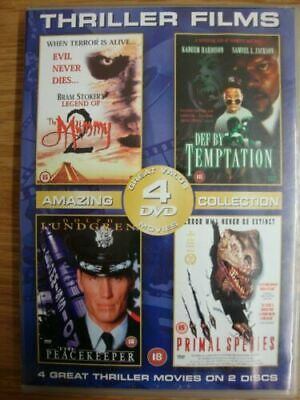 £2 • Buy @A31  The Mummy 2- Def By Temptation- The Peacekeeper- Primal Species 4 FILMS @