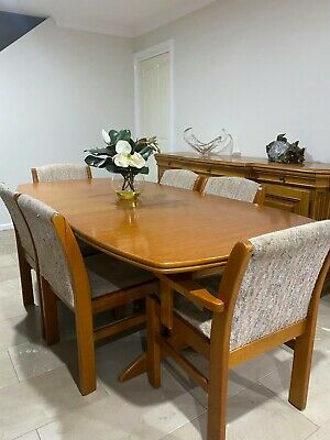 AU399 • Buy Mid Century Chesterfield Extendable Dining Table And Chairs