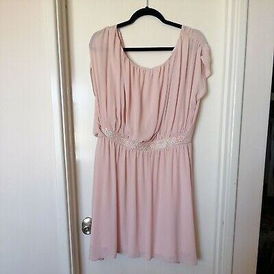 AU40 • Buy ASOS Pink Size 18 Cap Sleeved Party Dress