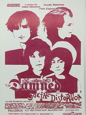 $14.95 • Buy The Damned Social Distortion Hollywood Palladium Classic La Punk Concert Poster