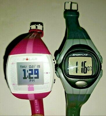 $9.95 • Buy Lot Of 2 Working Watches Polar FT4 Heart Rate Monitor Pink Watch Sportline Pulse