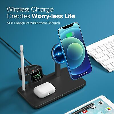AU39.99 • Buy Seneo 4in1 Qi Wireless Charger Fast Charging Dock Stand For Airpods IPhone Watch