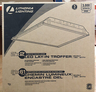 $39.95 • Buy Lithonia Lighting 2 Ft. X 2 Ft. White LED Lay-in Troffer With Smooth White Lens