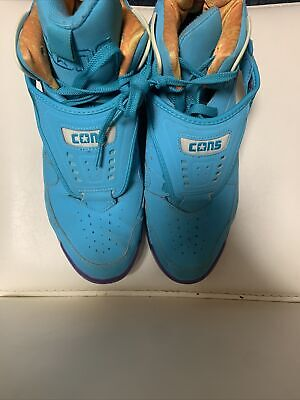 $74.99 • Buy Converse Cons Aero Jam Invader Larry Johnson Teal Blue Basketball Shoes Size 11