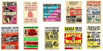 $69.99 • Buy Lot Of (10) 1950s-60s R&B Soul Blues 13 X 17 Reproduction Concert Posters