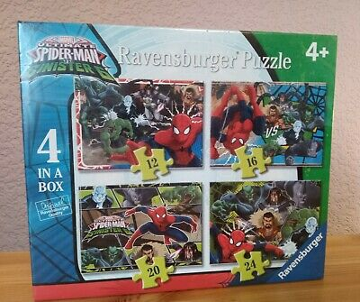 £8.99 • Buy Marvel Ultimate Spider Man VS Sinister 6 4 Ravensburger Puzzles 4 In A Box NEW