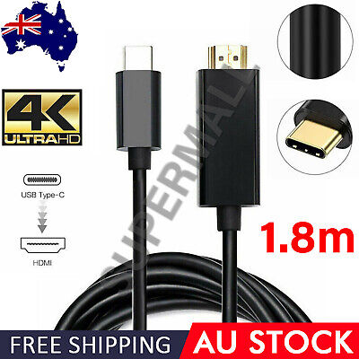 AU11.99 • Buy USB C To HDMI Cable Type C Male To HDMI Male 4K Cable For Macbook Chromebook OZ