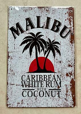£5.99 • Buy MALIBU WHITE RUM WITH COCONUT METAL SIGN BAR PUB MAN CAVE COCKTAIL GIFT 20 X 30