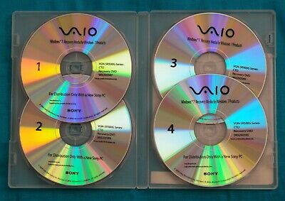 £21.75 • Buy Sony Vaio Window 7 Recovery Media DVD Disc For VGN-SR500G Series-CTO ( 64 Bit )