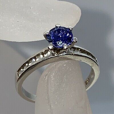 £16 • Buy Sterling 925 Silver  Tanzanite Solitaire Ring Size Q