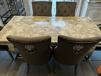 £55 • Buy Marble Dining Table And 6 Chairs