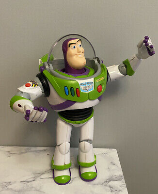 """£39.95 • Buy Toy Story Buzz Lightyear 12"""" Action Figure Thinkway Toys Talking & Moving"""