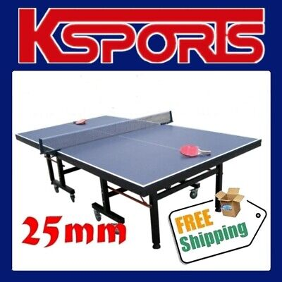 AU695 • Buy Table Tennis Table Ping Pong Table Pro Size 25mm Top - Ittf Approved Manufacture