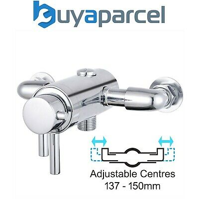 £58.99 • Buy Dual Control Thermostatic Exposed Shower Mixer Valve - 137mm To 150mm Centres