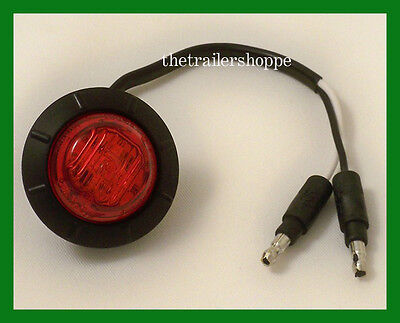 $10.95 • Buy Maxxima Marker Clearance Combination 6 LED Light 1-1/4  Round Red Grommet Mount
