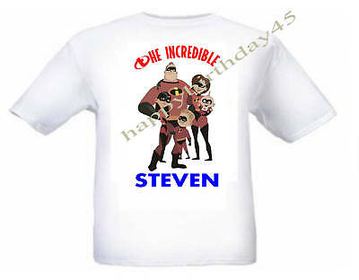 The Incredibles Personalised Kids T Shirt Age 1 - 8 • 6.99£