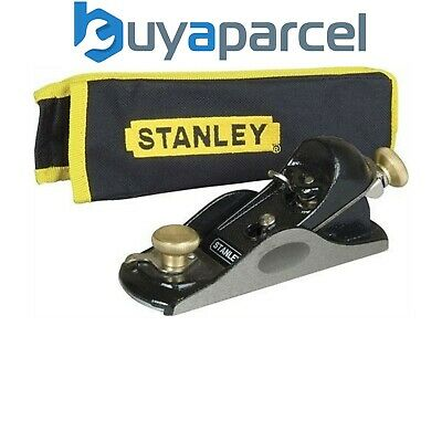 Stanley STA512020 9 1/2 Fully Adjustable Block Plane With Storage Pouch 5-12-020 • 56.95£