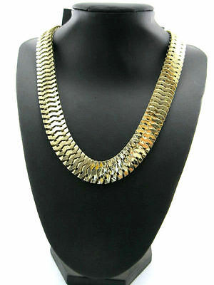 Goth Biker Style Gold Coloured Snake Chain Necklace / Choker • 3.99£