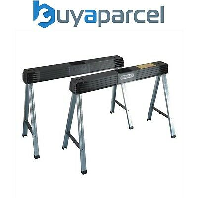 AU142.91 • Buy Stanley Folding Saw Horse Pair Twin Pack Max Load 340kg 1-97-475 STA197475