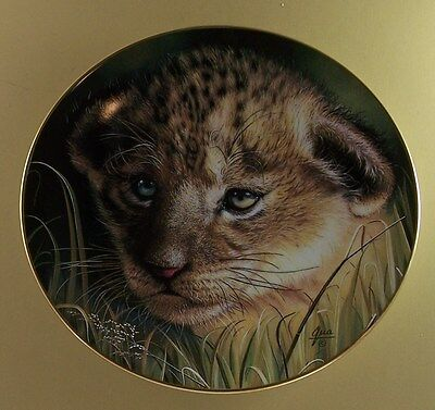 £14.35 • Buy Cubs Of The Big Cats LION CUB Plate Princeton Gallery Cat Qua Dramatic!