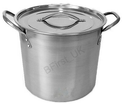 £9.99 • Buy Deep Stainless Steel Stock Soup Pot Pan Saucepan Cooking Stew Catering Casserole