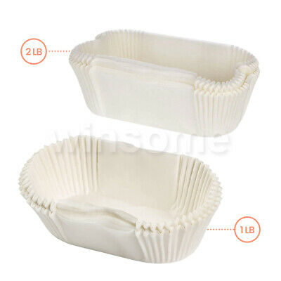 Pack Of 40 1lb Or 2lb Non Stick Grease Proof Loaf Tin Liners Paper Cake Cases  • 12.99£