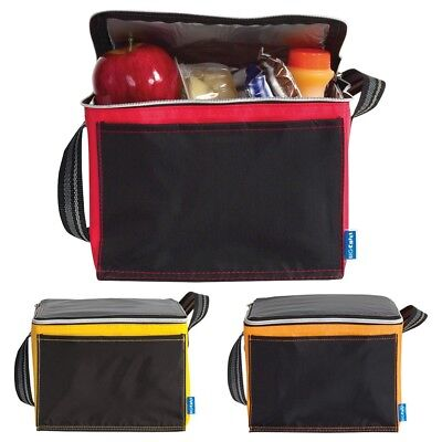 £2.99 • Buy Black Zipped Insulated Cool Bag - Lunch Time Sandwich 6 Drink Can Cooler 6 Can