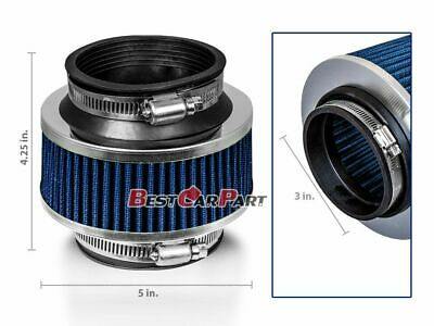 $15.99 • Buy 3  Inches Cold Air Intake Bypass Valve Filter 76mm BLUE Acura/Honda