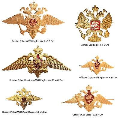 Russian USSR Army Military Uniform Imperial Eagle Hat Cap Beret Metal Pin Badge • 3.95£