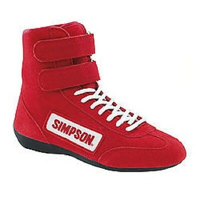 $107.99 • Buy Simpson High Top Race Shoe Red Size-10 3.3/5 Specs #28100rd Nomex-lined Fleece