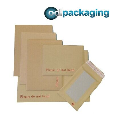£1.99 • Buy Hard Board Backed Envelopes 'Please Do Not Bend' Manilla Brown│Strong & Rigid
