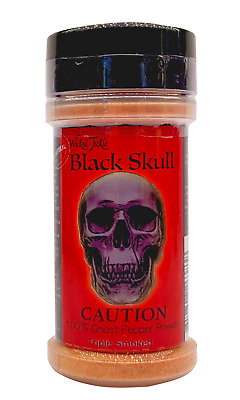 $11.99 • Buy Smoked Ghost Pepper Powder Hot Spice Wicked Tickle Black Skull Chili Seasoning