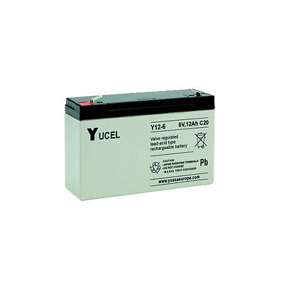 Yucell 6v 12ah Electric Toy Car Battery  Np12-6, Y12-6l • 18.99£