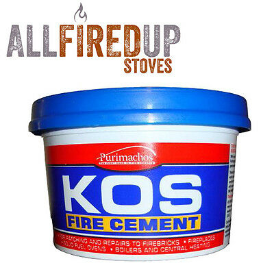 Everbuild Kos Black Fire Cement For Wood Burning Stoves Furnace Stove Cement • 6.96£