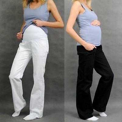 £15.99 • Buy Maternity Pregnancy Cotton Trousers Cargo Pants Over Bump Size 8 10 12 14 16 18