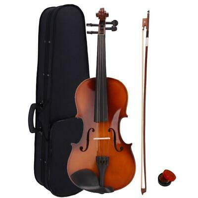 $29.99 • Buy New Acoustic Violin 4/4 Full Size With Case And Bow Rosin Natural