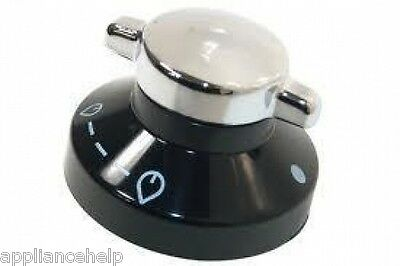 STOVES NEW WORLD Oven Cooker Black Silver Control Knob 082834826 444441153 • 6.75£