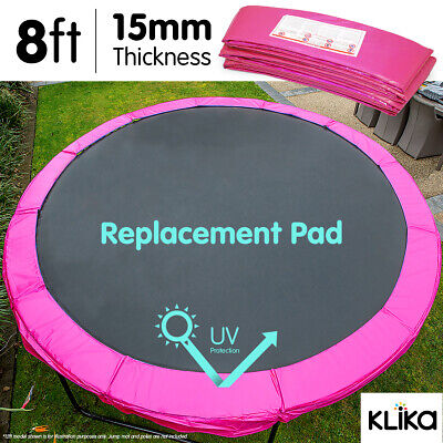 AU65 • Buy PINK 8ft REPLACEMENT REINFORCED OUTDOOR ROUND TRAMPOLINE SPRING PAD COVER