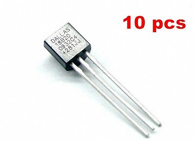 £5.06 • Buy 10pcs DS18B20 1-Wire Digital Thermometer Dallas