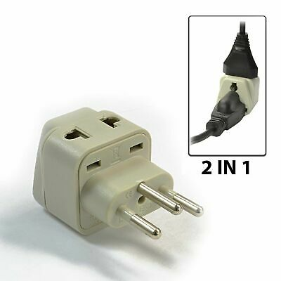 £4.32 • Buy OREI 2 In 1 Switzerland Travel Adapter - US To Swiss Type J - Grounded(DB-11A)