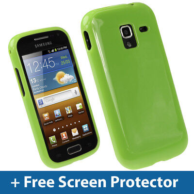 £2.19 • Buy Green Glossy TPU Gel Case For Samsung Galaxy Ace 2 I8160 Android Skin Cover