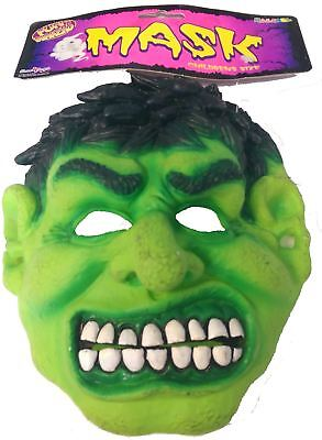 £3.35 • Buy Childs Incredible Hulk Latex Mask Green Moster Fancy Dress
