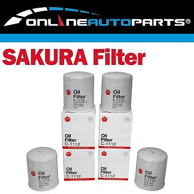 AU46.15 • Buy 4 Oil Filters Sakura C1112 (Z334) Suits Toyota 1HZ 1HDT 4.2L 70 80 100 Series