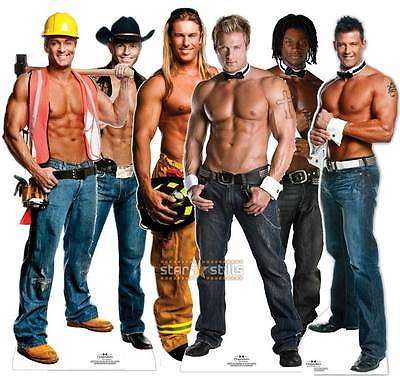£36.49 • Buy CHIPPENDALES LIFESIZE CARDBOARD CUTOUT STANDEE STANDUP Cutouts Male Strippers