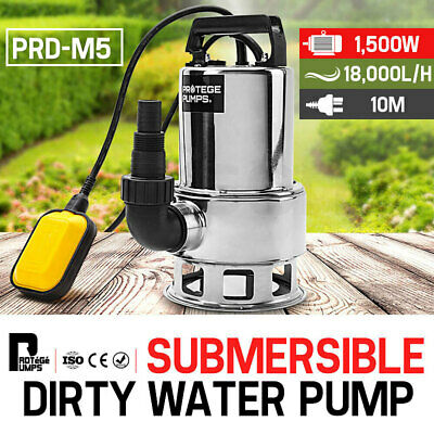 AU95 • Buy PROTEGE 1500W Submersible Dirty Water Pump Bore Tank Well Steel Automatic Clean