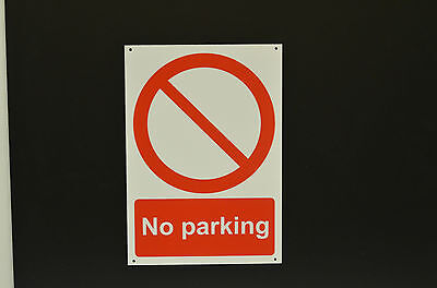 No Parking Plastic Or Metal Sign Or Sticker Choice Of Sizes Screen Printed • 0.99£